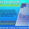 Download Facebook Videos From Videoder
