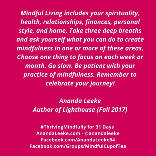 #ThrivingMindfully: Day #11 of Meditation Month - Mindfulness & Health