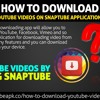 How to download YouTube videos on SnapTube application? .mp3