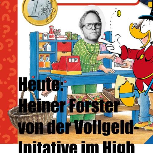 Vollgeld-Initianten Heiner Forster und Suki bei APW