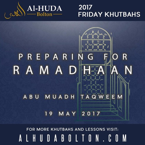 Preparing for Ramadhaan
