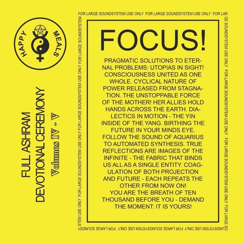 OM So Low LP 001 - Happy Meals - Full Ashram Devotional Ceremony (Volumes IV to VI) (album sampler)