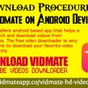 Download Procedure Of Vidmate On Android Device