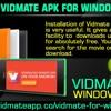 Download Vidmate APK For Windows Phones