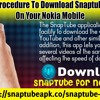 Download SnapTube application on your Nokia Mobile.mp3
