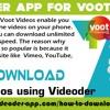 Videoder App For Voot Videos