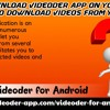 How To Download Videoder App On Your Android Mobil
