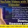 Download YouTube Videos With The Help Of Videoder