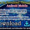 How To Download Videoder For Android Mobile