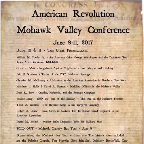Mohawk Valley Conference/Part One/The Historians/June 2017