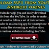Download MP3 from YouTube on Android phones.mp3