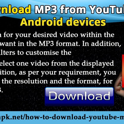 Download MP3 from YouTube on android devices.mp3