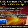 Download MP3 Files From YouTube With The Help Of Videoder App .mp3