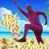 PINK GUY COOKS RAMEN AT BREAKDANCE BEACH
