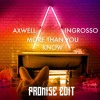 Axw3ll Ingr0sso - MoreThanYouKnow(PROMI5E Edit)FREE DOWNLOAD