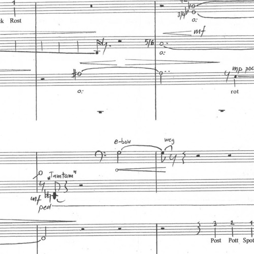 sestinenzirkel für Chorgruppen und Klavier  (2002)  Abschnitt 2 von 6