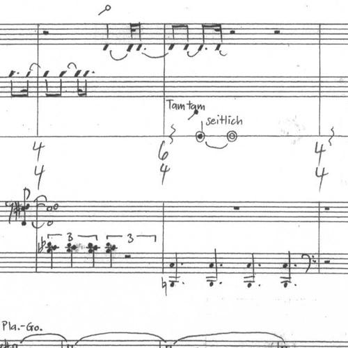 handlungen für Schlagzeug und Klavier  (2003) Abschnitte 12, 13, 6, 7