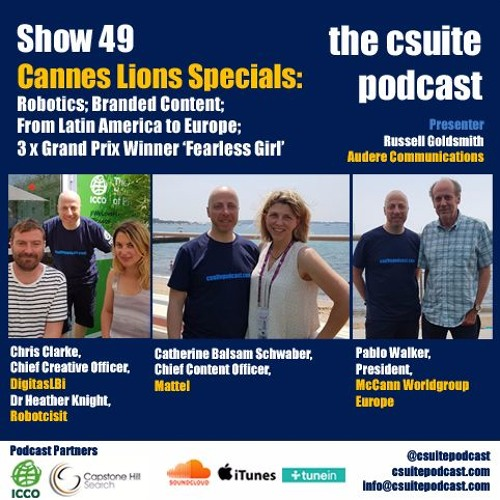 Show 49 - Robotics; Branded Content; Latin America to Europe; Fearless Girl