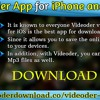Videoder App For IPhone And IOS