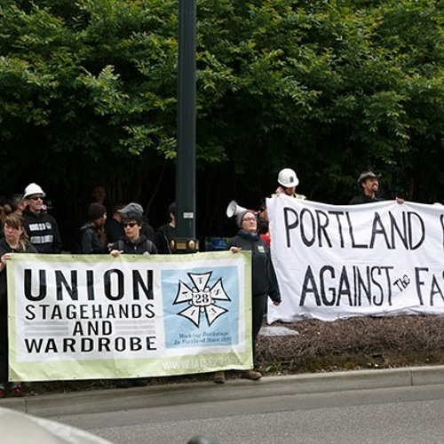 WorkWeek6-13-17 Labor Protest Nazis In Portland & Corbyn In SF At  Stop War Sponsored By ILWU