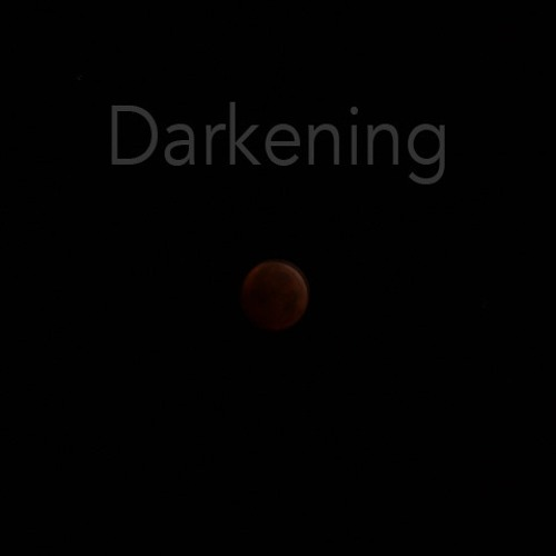 Darkening - for string quartet