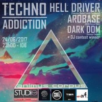 Dominik Rawen. Techno Addiction w/Hell Driver & Arobase @ Studio Saglio Strasbourg(Closing Set)