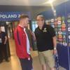 Alfie Mawson with The Moose ahead of England U21's V Germany U21's