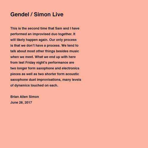 Sam Gendel / Brian Allen Simon - Live at 408