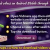 How To Download Videos on Android Mobile Through Vidmate