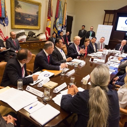 President Donald Trump With Tribal Leaders