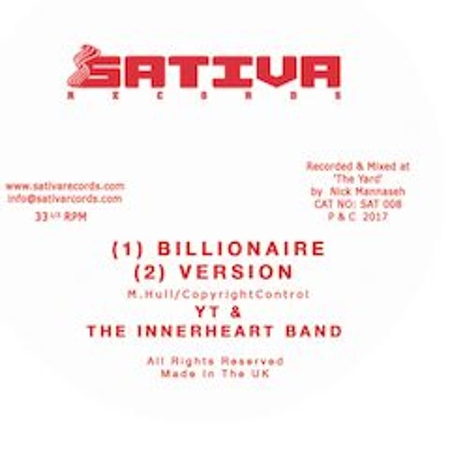 YT & The Innerheart Band - Billionaire // Plant More  EP (Audio Preview)