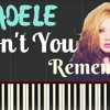 Adele Dont You Remember Lyrics Adele Piano Lesson Synthesia P Mp3