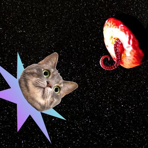 Uncanny Alien Cat Space Ship Eats Gluten,Free Immigrant