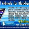 Download Vidmate for Blackberry Phone