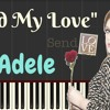 Adele U2013 Send My Love To Your New Lover Lyrics Easy Piano Tutorial Synthesia Lesson Mp3