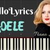 Adele – Hello (Easy Piano Lyrics)  Synthesia Lesson Music