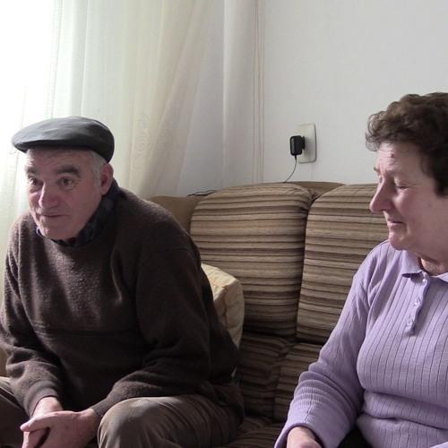 Rubiás. Francisco y Lola. Trabajos campo. | Trabalhos campo. | Agricultural works [GRABADORA]