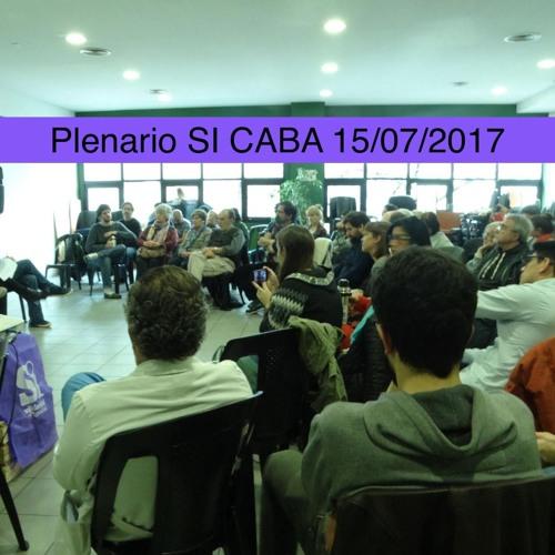 Plenario SI CABA - Carlos en el Cierre #9