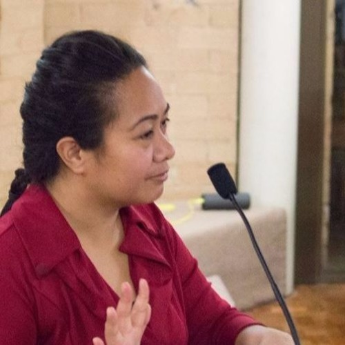 Tau'alofa Angaaelangi with Jessica Morthorpe