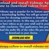 How To Download And Install Vidmate Application On Your iPhone To Download Videos From YouTube