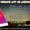 Install Vidmate App On Android Device
