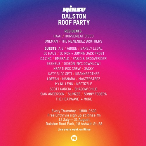 Oneman Live From Dalston Roof Party 13th July 2017 By