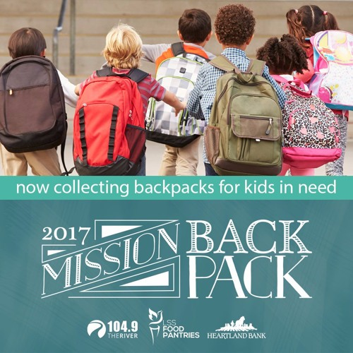 Mission Backpack 2017 with 104.9 The River and Heartland Bank/Interview