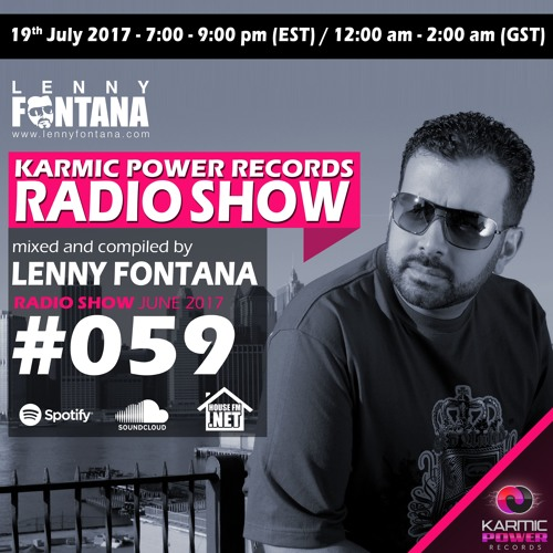 #59 Karmic Power Records Radio Show On HouseFM.NET mixed & compiled by Lenny Fontana July 2017