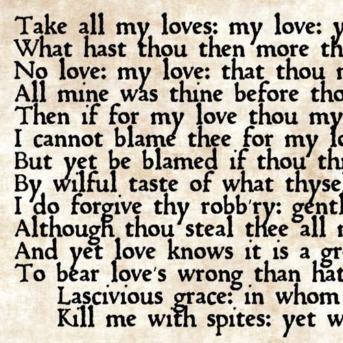 Take All My Loves (SATB choir)