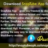Download SnapTube App for BlackBerry Phones