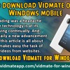 How To Download Vidmate On Your Windows Mobile?