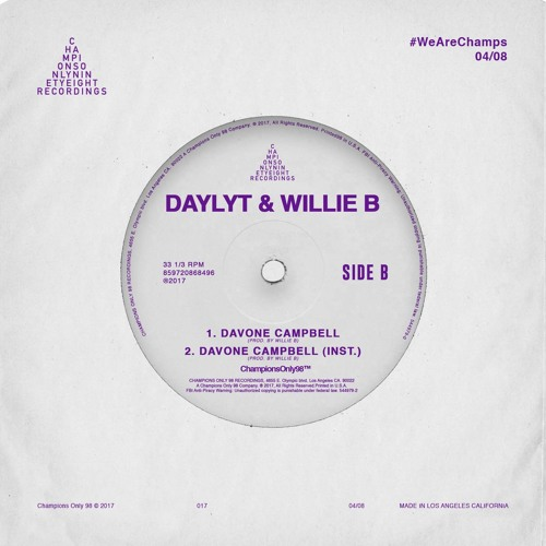 Daylyt & Willie B - Davone Campbell Prod. By Willie B