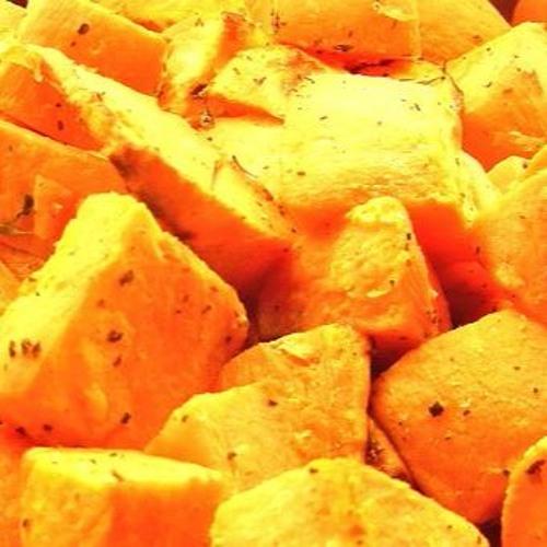 THURSDAY RECIPE #1: roasted maple cinnamon sweet potatoes