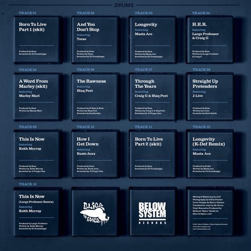 DJ Koss - Born To Live - LP - Limited Edition Vinyl (Album Snippets)